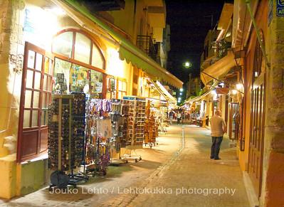 Golden Lights of Tourist Shops