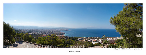 Chania overview from The Grave of Venizelos