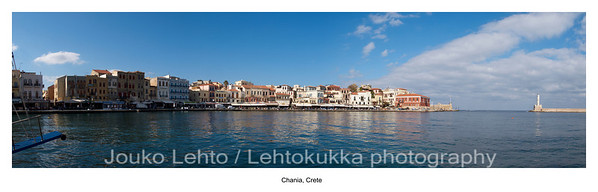 Chania Old Town Harbour with Lighthouse panorama #2