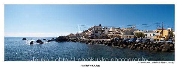 Paleochora harbour  panorama