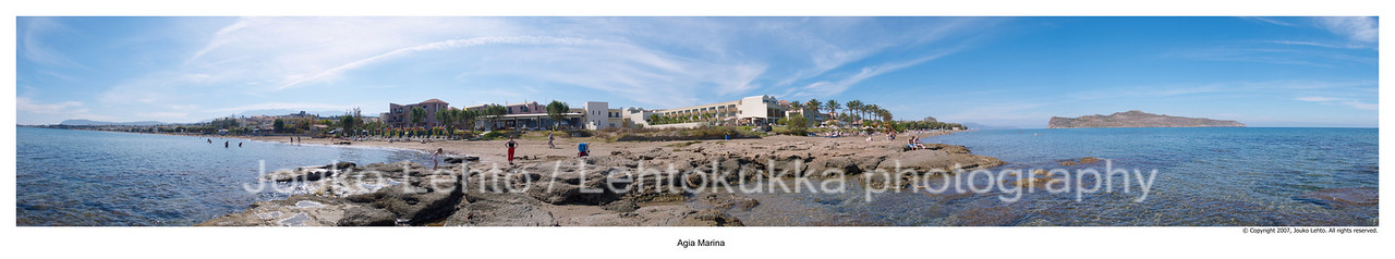 Agia Marina Beach on a Sunny Day