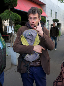 Our leader for a Paris walkabout.  No bulky pockets, keep your valuables very secure.