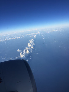 We saw straight line cloud banks a few times.