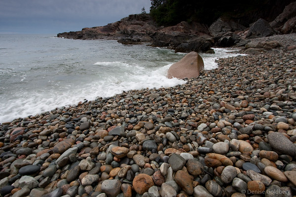 singing rocks at Acadia National Park