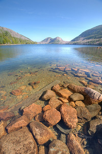 The Bubbles, with Jordan Pond in the foreground