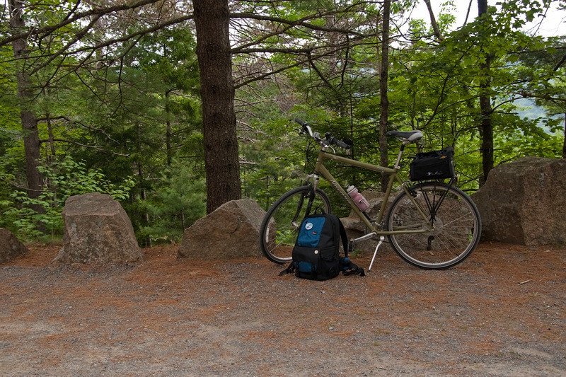 """My """"other"""" ride.  Yes, I really did have that much stuff on our bike rides.  No, didn't need half of it LOL."""