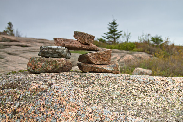 trail markers, rock cairn