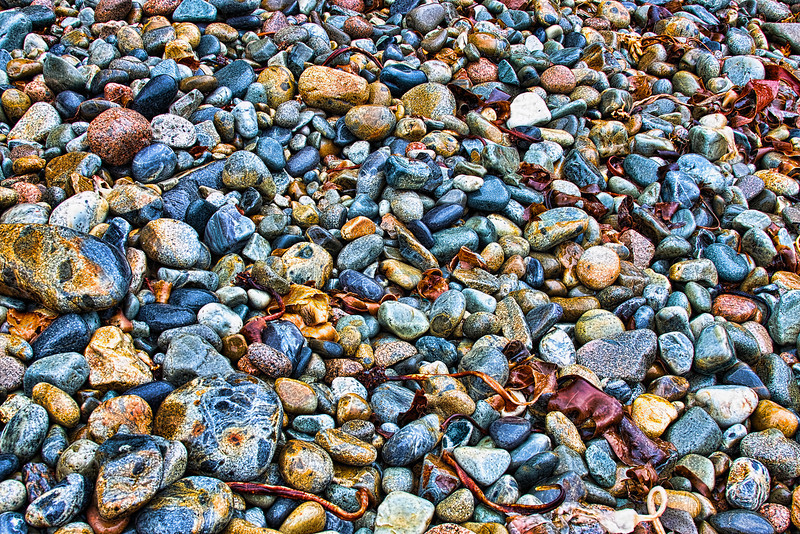 Hunter Beach has all these polished rocks.  It is beautiful.  There are signs along the beach telling you not to take any of the rocks.