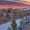 I decided one morning to go back to Cadillac Mountain for a sunrise shot.  The road leading up the mountain was closed because of an ice storm at the top.  I settled for this shot.  The road is part of a road loop that goes completely around Acadia National Park.  These roads are not plowed during the winter.  The only traveling on these roads then is by snow mobile.