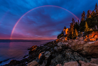 Acadia National Park - Bass Harbor Rainbow Sunrise