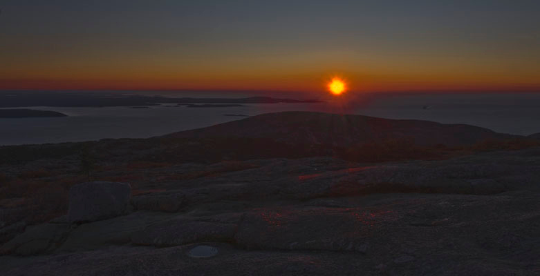 Cadillac Mountain at sunrise!!! Wow, what a spectacle.