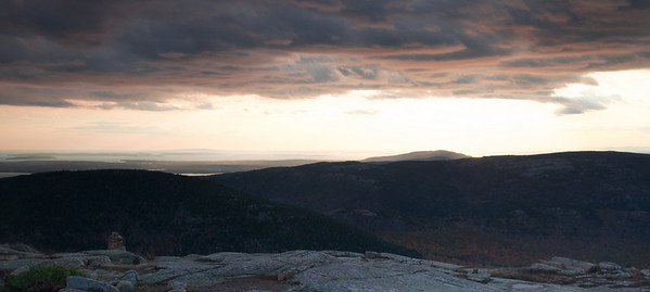 Sunset from Cadilliac Mountain, Acadia National Park