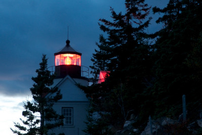 Bass Head LIght at sunset, Acadia National Park