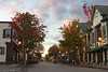 Looking up the street in Bar Harbor.