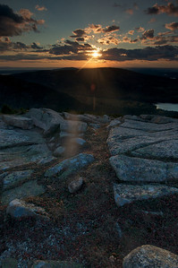 Sargent Mountain seen at Sunset,Acadia National Park