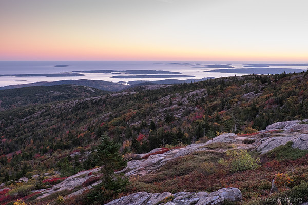 from Cadillac Mountain, just after sunset