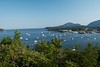 The view of Bar Harbor from Bar Island