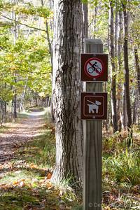 trail signs, Jesup Path