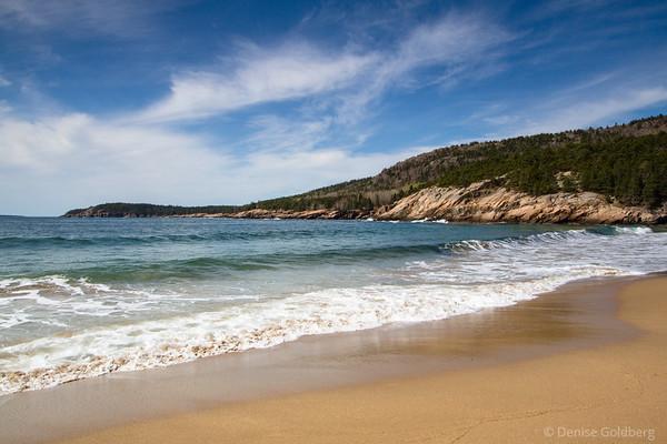 a sunny morning at Sand Beach