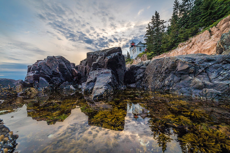 Bass Harbor Head Light House at Sunset