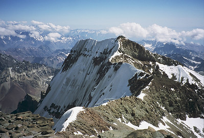 Aconcagua, south face from the summit