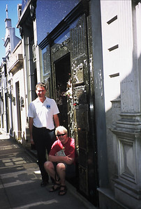 Charles and Richard at the grave of Eva Peron.