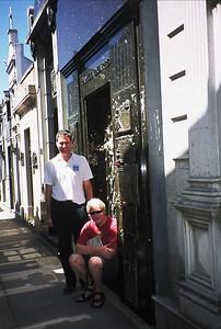 Charles and Richard at the grave of Eva Peron.