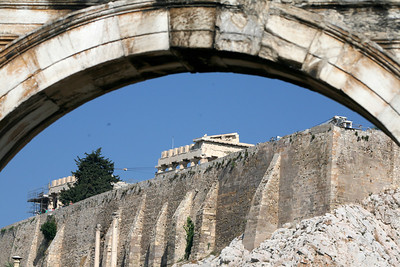 Acropolis through the Hadrian's Arch