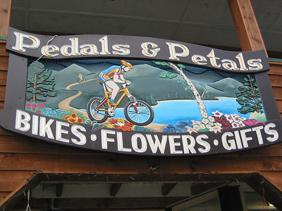 Great shop - let's see, bicycles or flowers? Or maybe both...
