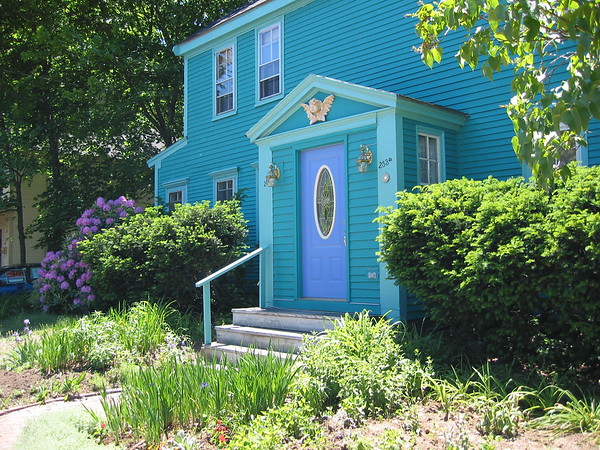 Amazing color, a house in Newburyport, MA