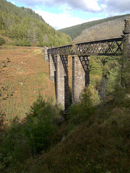 Disused railway over the Afan