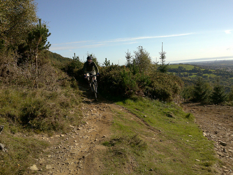 Nearing the final Cwmcarn descent