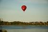 The balloon crosses Willen Lake