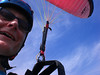 And that's what holds us onto the paraglider <br /> A few strings!