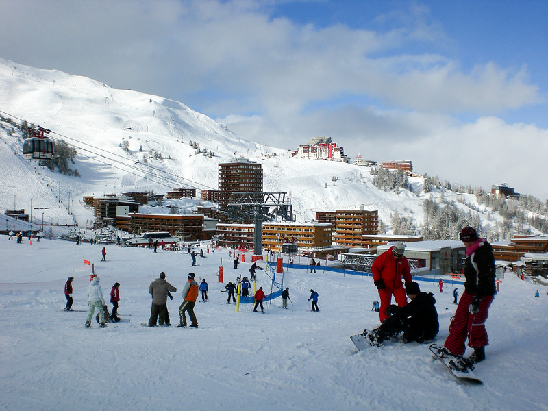 The beginner's area at La Plagne