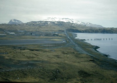 Interstate 0.5 makes its way from behind Kulak Housing past the runway lights and on toward NavFac. In short, you've now left Adak City Limits.