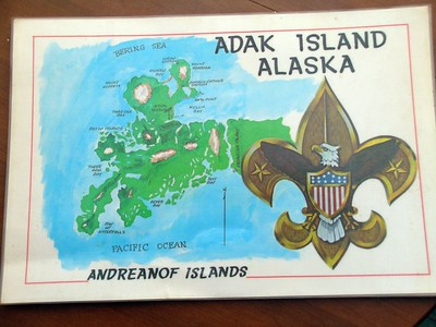 In honor of America's bicentennial in 1976, a beautiful set of placemats were made. The front featured this great map of the island....