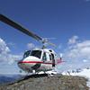 CMH heicopter on a mountain helipad