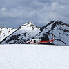 Our helicopter sometimes made a soft landing on snow.