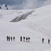 Hiking on ice Glacier