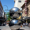 Rundle Mall Silver Balls in Adelaide, South Australia.