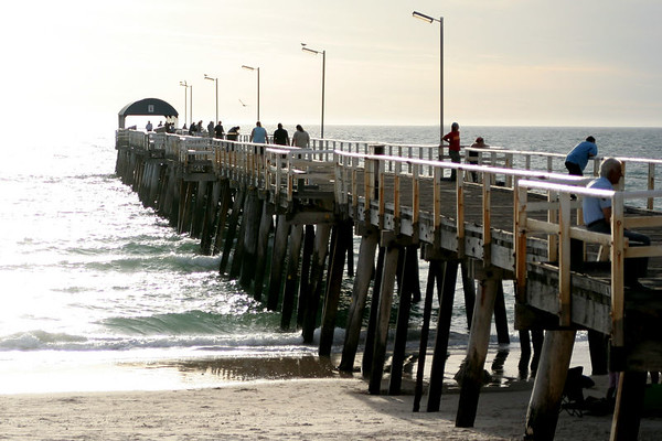 The jetty at Henley Beach in the late afternoon.