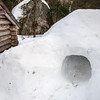 One of the lean-to's near Peggy O had a couple of very nice snow caves.