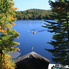 The final ride - photo taken from the deck of Spruce Knot Camp, Spitfire Lake<br /> Adirondack Park, Paul Smiths, NY