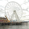 Ferris wheel under construction, Seattle, WA.