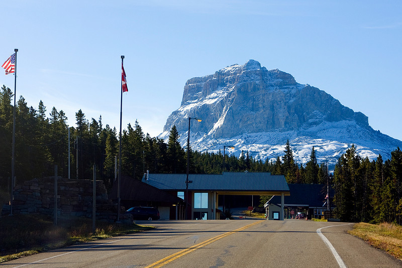 We drove to Montana the second time here at the Chief Mountain border crossing.
