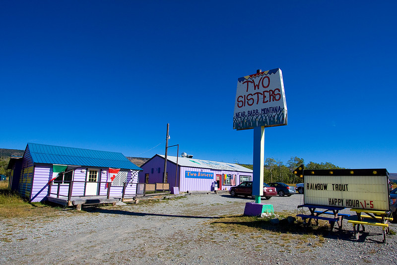 This bar (the Two Sisters) is just outside the park near Babb, Montana.  The colors caught our attention but we didn't actually go inside.