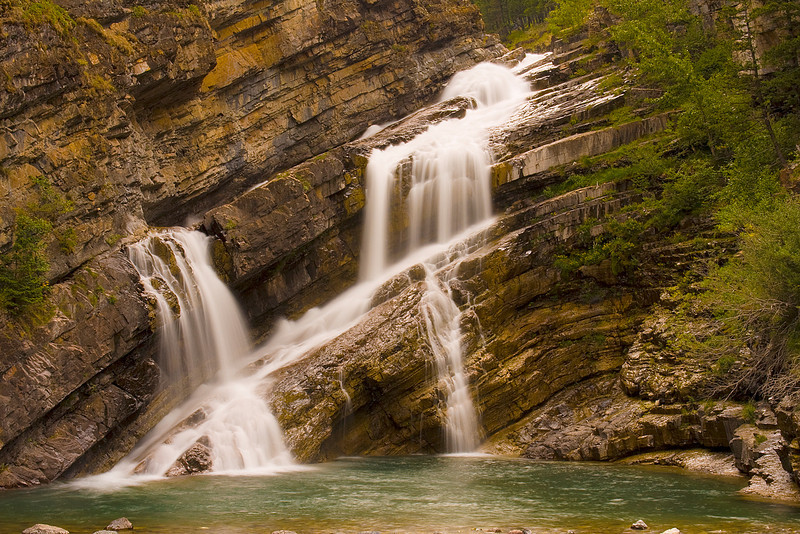 Cameron Falls is only about 150 meters from the Galbraith cabin.  This is a 1.6 second exposure.