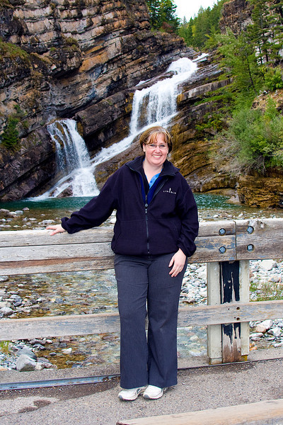 Sharon Prescott joined us at the end of the week.  Her grandparents actually went on their first date to Cameron Falls.