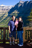 Salleh family at Logan's Pass (Glacier National Park, Montana)